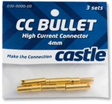 4mm  High Current CC Bullet Connector Set