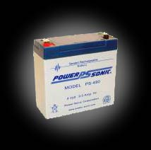 Powersonic PS-490 SLA 4V 9.0Ah Battery