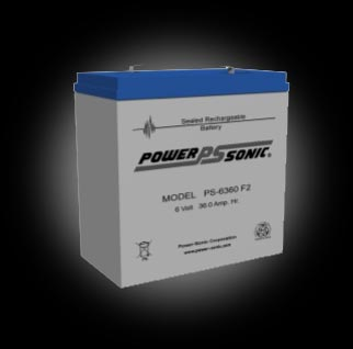 Powersonic PS-6360 F2 SLA 6V 36.0Ah Battery