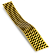 Top Flite Trim MonoKote Checkerboard Black/Yellow
